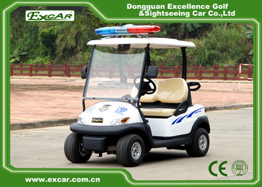 China White Security Golf Carts Prowl Car 2 Seater Battery Powered supplier