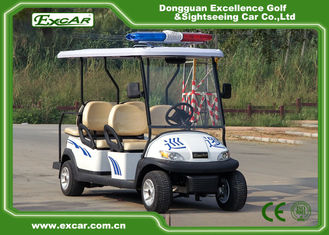 China CE Approved White Electric Patrol Car 6 Person Electric Police Car supplier