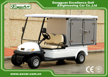 China EXCAR 2 seater Electric Utility Carts Hotel Buggy With Customized Cargo LED Headlight supplier