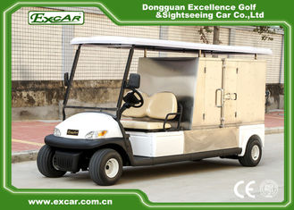 China White Hotel Buggy Car Electric Utility Carts with Customized Cargo 350A USA Curtis Controller supplier