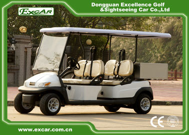 China EXCAR White 2 Seats Hotel Buggy Car Electric Utility Golf Carts With Cargo for Transportation supplier