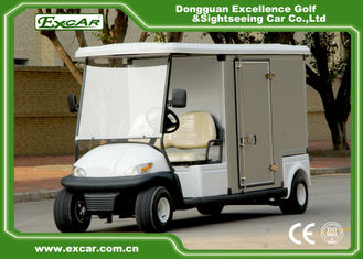 China EXCAR Electric Food Cart White 5KW Golf Beverage Cart With Steel Chassis supplier