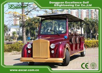 China Excar Red Electric Classic Cars With Trojan Battery ,CE Approved supplier