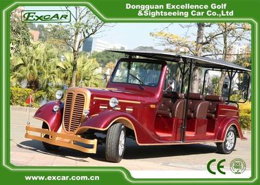 China Classic Design Red Vintage Golf Car Tourist Car With CE Approved supplier