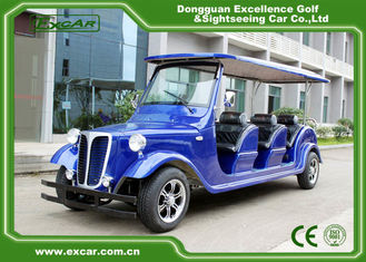 China Elegant Blue Electric Classic Cars 6 Seater Electric Vintage Car supplier