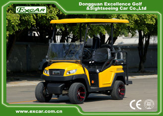EXCAR Electric Fuel Type Yellow Electric Golf  Car 3 - 4 Seater 48V 350AH Trojan Battery