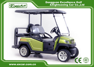 China Green EXCAR Electric Golf Car 3 Or 4 Seater 48V ADC Motor CE Approved supplier