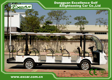 White 72V Electric Sightseeing Cart For 14 Person / electric passenger Bus