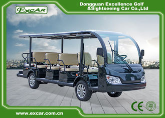China Green / Black 14 Seater Electric Sightseeing Bus KDS Motor 72V 7.5KM supplier