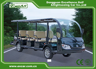 China Green / Black Rustproof Body electric sightseeing bus tour 1 year Warranty supplier