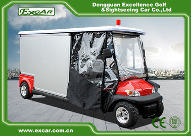 China Cusomize Red 48V Electric Ambulance Car 2 Passenger for hospital supplier