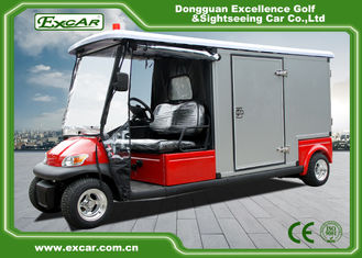 Red 2 Seater 48v Electric Ambulance Vehicle For Park 1 Year Warranty