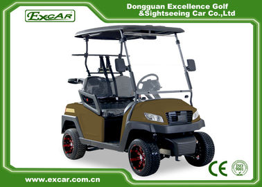 China Right Hand Steering Brown 48V AC motor Mini Electric Golf Buggy EXCAR golf cart supplier