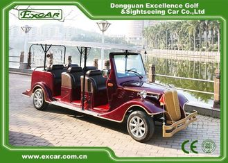 China Excar red 48V Electric Classic Cars elegant mini electric sightseeing car supplier