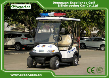 China White 4 Seater Electric Security Patrol Vehicles 48V 3.7KW Aluminum Material supplier
