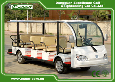 China 7.5KM Motor 72V 14 Seater Electric Sightseeing Bus / Tour Golf Cart supplier