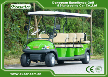 China EXCAR 11 seater trojan battery Electric golf cart sightseeing car china mini bus supplier