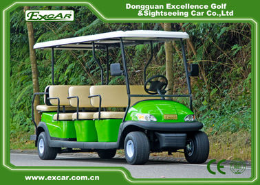 China Tourist Electric Sightseeing Car , 3.7kw 48v Trojan Battery Operated Golf Cart supplier
