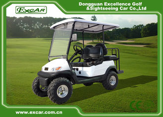 China White 2 Seater Beach Electric Hunting Buggy With Trojan Battery supplier