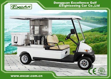 China EXCAR 2 Seater Electric Golf Buggy Car Food Utility Cart 1 Year Warranty supplier