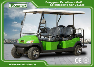 China Excar 6 seat Electric golf buggy,48V 3.7KW motor trojan battery golf car supplier