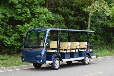 Mini Electric Golf Carts 14 Passengers Electric Sightseeing Car Blue Color