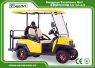 CE Approved 48V Trojan Battery Powered Golf Cart Yellow Colour