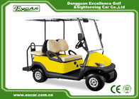 China EXCAR Yellow 48V Electronic Golf Carts CHAFTA Approved 3.7KW ADC Motor factory