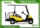 China EXCAR Yellow Electric Golf Carts Front 2 Seater Plus Rear 2 Seats 3.7KW Motor factory