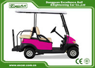 CE Approved Pink Electric Golf Carts 48V Battery 2 And 2 Seater 275A Controller