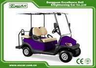 China Purple Battery Operated Electric Golf Car 48V Mini Club Car 4 Seater factory