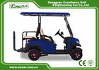 China Fuel Type 3 - 4 Seater 48V Battery Golf Cart Blue Colour With CE Approved factory
