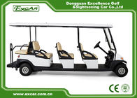 China Club Course 8 Passenger Used Electric Golf Buggy With Headlight Trojan Battery company