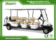 11 Passenger Electric Sightseeing Car 48V Trojan Battery Powered With Fixed Backward Seat