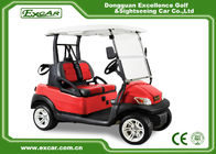 China 2 Seater Double Color Seat Golf Car Disc Brake Technology With Trojan Battery factory