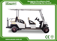 EXCAR 48V White 6 seater electric golf cart mini club car golf cart electric golf buggy car