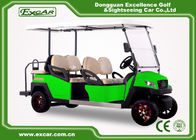 China Green Powerful Electric Golf Carts For 6 Person Steel Framework factory