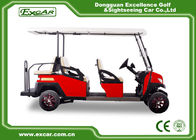 China Fuel Type Electric Golf Carts Red 6 Seater Golf Cart With Graziano Axle factory