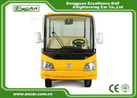 8 Passenger Electric Sightseeing Car Yellow 350A Curtis Controller