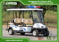 China 4 Seater Electric Golf Cart For Security Cruise Car With Caution Light factory