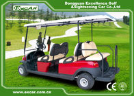Excar Red Motorised Golf Buggies 4 And 2 Seats Intelligent Onbaord Charger