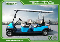 Sky Blue Electric Golf Buggy 6 Person Aluminum 3.7KW ADC Separately Motor
