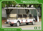 China White Electric Sightseeing Cart For 14 Person 4500 * 1500 * 200 MM company
