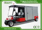 Red 2 Passenger Electric Ambulance Car For Emergency Closed Type