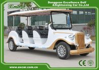China White 6 Seats Electric Classic Cars AE Approved Classic Car Golf Carts factory