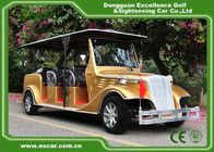 China Luxurious Golden Classic Car Golf Carts 6 Person Whole Metal Body factory