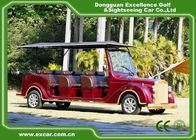 China Luxurious Red G1S8 Electric Classic Cars 4 Row For 8 Passenger factory