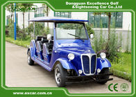 China Energy Saving Classic Golf Carts With 3 Row Blue Color Vintage Type company