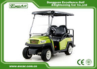 Green EXCAR Electric Golf Car 3 Or 4 Seater 48V ADC Motor CE Approved