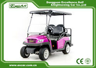 Rose Color Electric Fuel Type 4 Wheel Electric Golf Car Electric Vehicle 48 Voltage Aluminium Framework